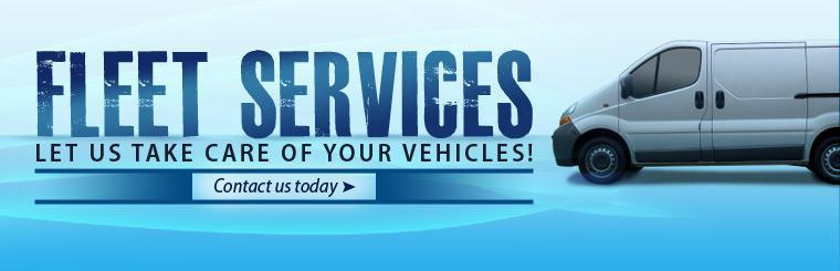 We offer fleet services. Let us take care of your vehicles! Click here to contact us.