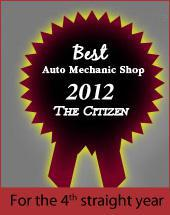 Best Auto Mechanic Shop 2012. For the 4th straight year.