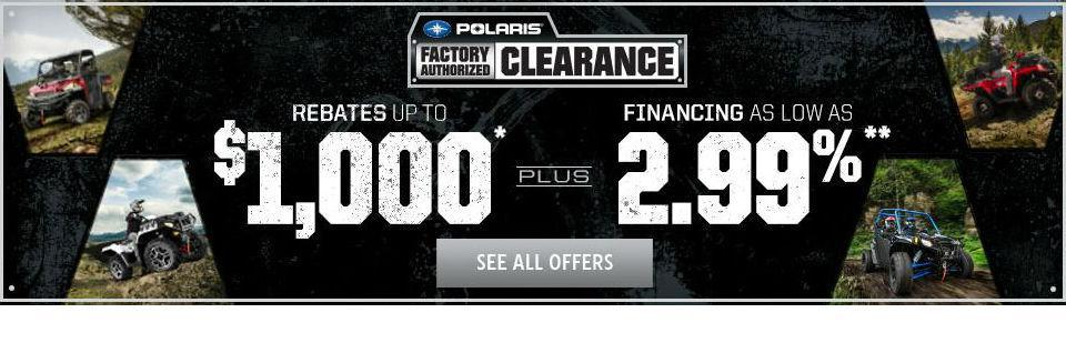 Polaris Factory Clearance Promotion