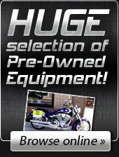 We have a huge selection of Pre-Owned Equipment! Click here to browse online.