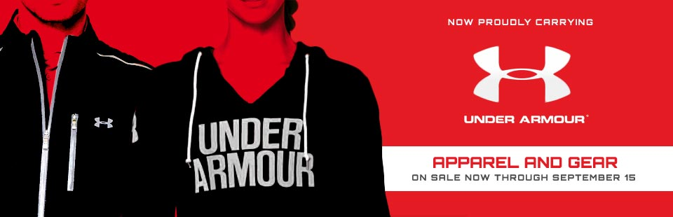 We now proudly carry Under Armour apparel and gear! Click here to shop online.