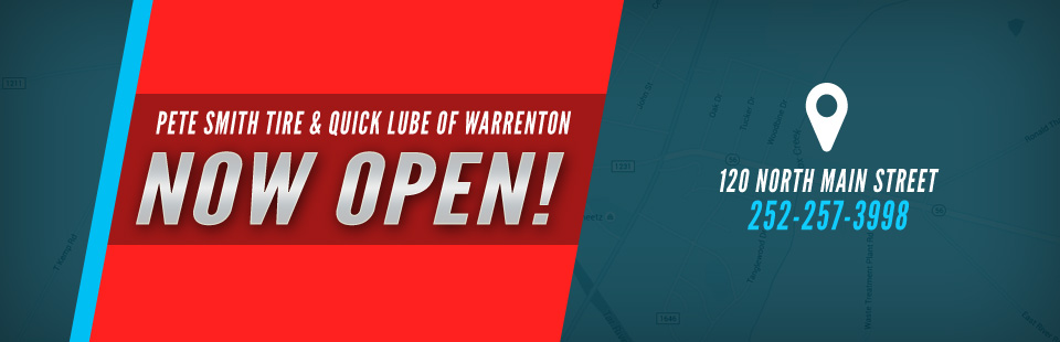Pete Smith Tire & Quick Lube of Warrenton is now open!