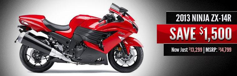 Save $1,500 on the 2013 Kawasaki Ninja ZX-14R!