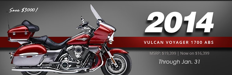 2014 Vulcan Voyager 1700 ABS: Now Only $16,399