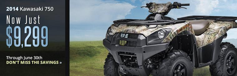 The 2014 Kawasaki Brute Force 750 is now just $9,299 through June 30th!