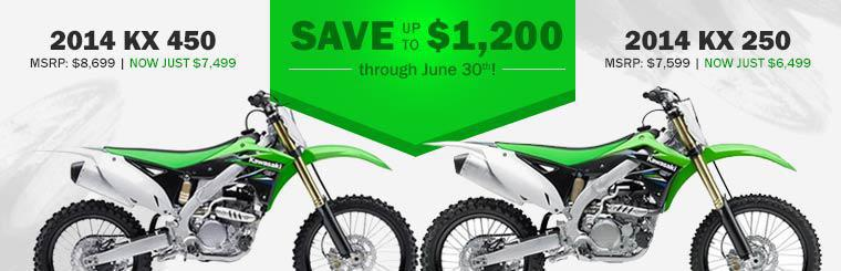 Kawasaki Dirt Bike Sale: Save up to $1,200 through June 30th!