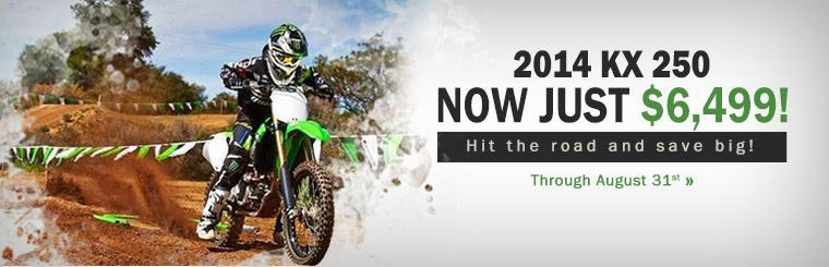 The 2014 Kawasaki KX 250 is now just $6,499!