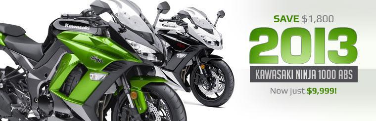 Save $1,800 on the 2013 Kawasaki Ninja 1000 ABS!