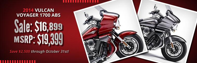 2014 Kawasaki Vulcan Voyager 1700 ABS Sale: Just $16,899!