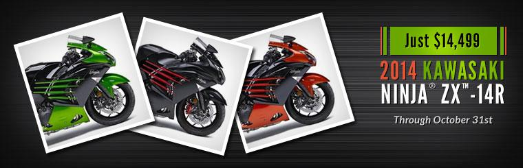2014 Kawasaki Ninja® ZX™-14R: Just $14,499 through October 31st!