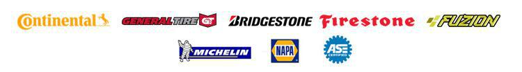 We carry products from Bridgestone, Firestone, Fuzion, Michelin, Continental, and General. We are NAPA AutoCare certified. We are ASE certified.