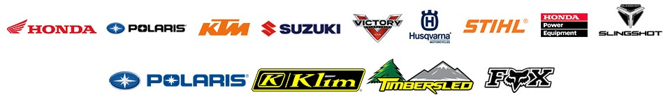 We carry products from Honda, Polaris, KTM, Suzuki, Victory, Husqvarna Motorcycles, STIHL, Honda Power Equipment,Fox and Polaris Slingshot.