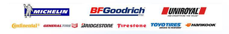 We carry products from Michelin®, BFGoodrich®, Uniroyal®, Continental, General, Bridgestone, Firestone, Toyo, and Hankook.