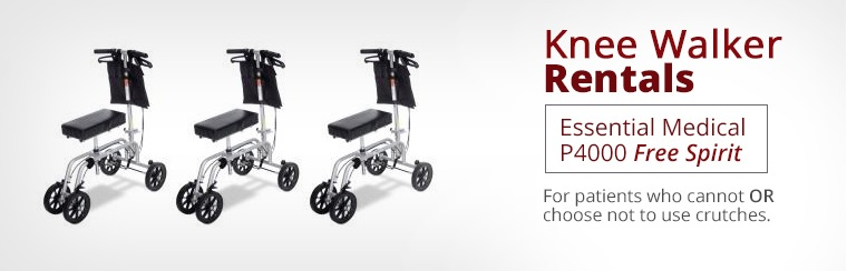 Essential Medical P4000 Free Spirit Knee Walker Rentals: Click here to submit our Rental Request Form.