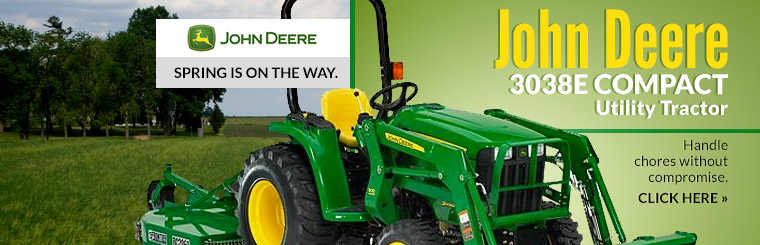 John Deere 3038E Compact Utility Tractor: Click here to view the model.