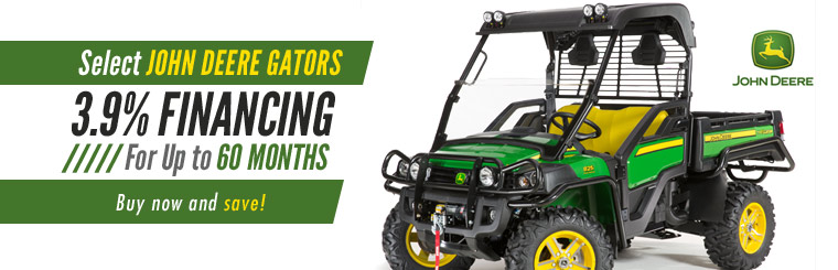 Get special financing on select John Deere Gators! Click here to view our selection.