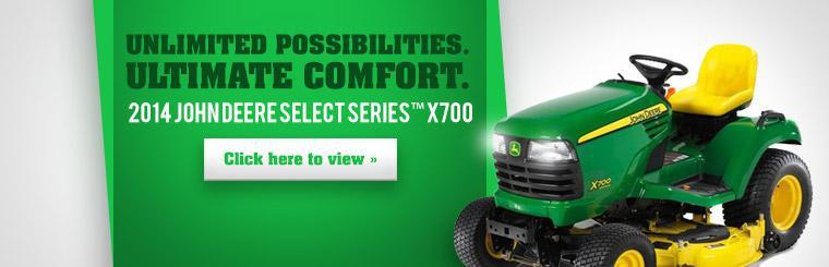 2014 John Deere Select Series™ X700: Click here to view the model.