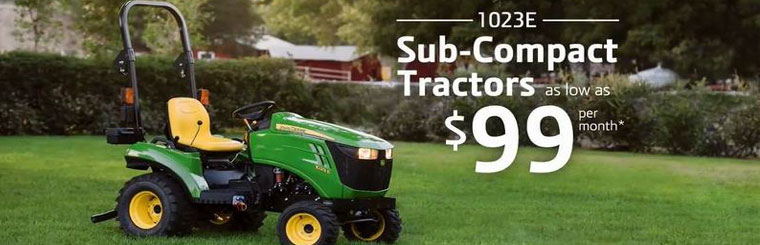 John Deere Sub Compact Tractor Savings