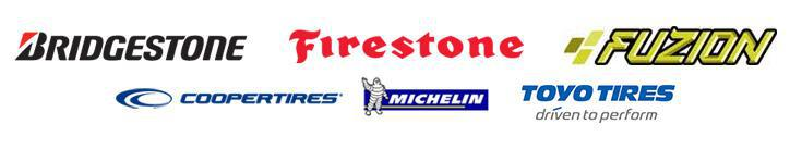 We carry products from Bridgestone, Firestone, Fuzion, Cooper, Michelin®, and Toyo.