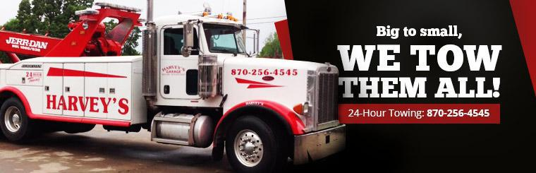 For 24-hour towing, call 870-256-4545.