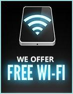 We offer free Wi-Fi.