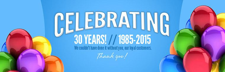 We are celebrating 30 years!