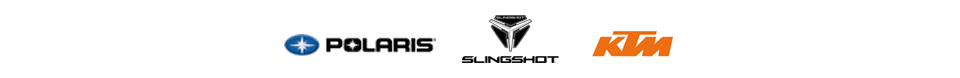 We carry products from Polaris, Slingshot, and KTM.