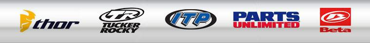We proudly carry products from Thor, ITP, Tucker Rocky, Parts Unlimited, and Beta.
