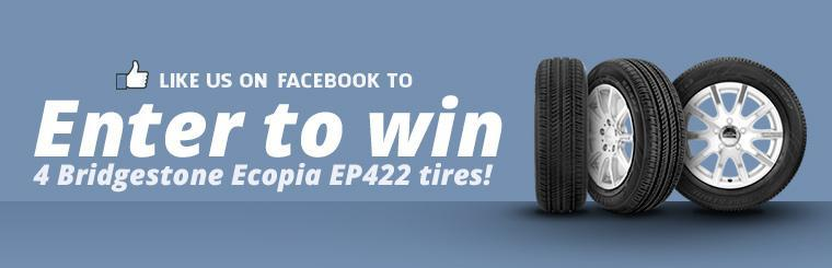 Like us on Facebook to enter to win 4 Bridgestone Ecopia EP422 tires!