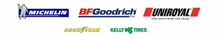 We carry products from Michelin®, BFGoodrich®, Uniroyal®, Goodyear, and Kelly.