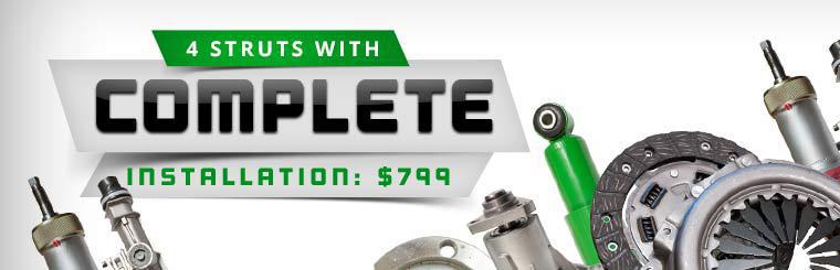 Get 4 struts with complete installation for just $799! Click here for details.