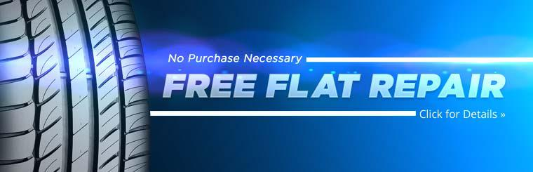 We offer free flat repair with no purchase necessary! Click here for details.