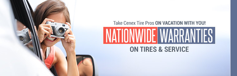 Cenex Tire Pros has nationwide warranties on tires and service! Click here for more information.