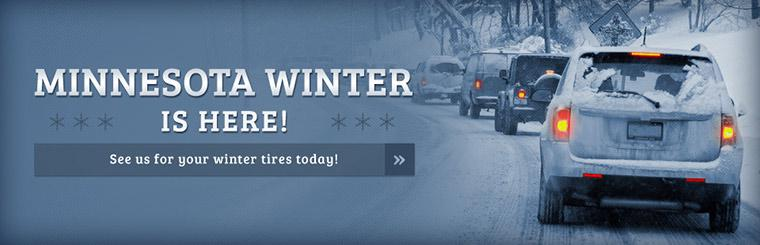 Minnesota winter is here! See us for your winter tires today!