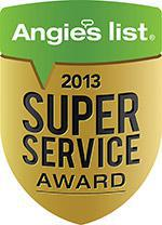 Angie's List. 2013 Super Service Award.