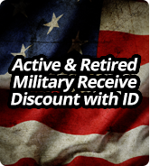 Active & Retired Military Receive Discount with ID