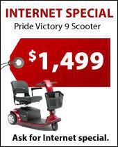 Internet Special: Pride Victory 9 Scooter for $1,499. Ask for Internet Special.