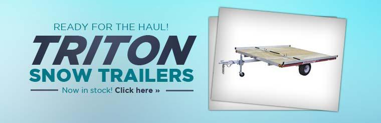 Triton snow trailers are now in stock! Click here to view the models.