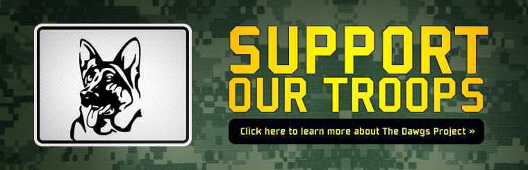 Support Our Troops: Click here to learn more about The Dawgs Project.