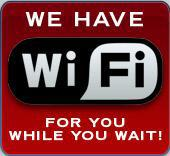 We have WiFi for you while you wait!
