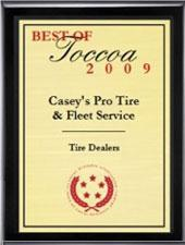 Casey's Pro Tire & Fleet Service has been selected for the 2009 Best of Toccoa Award in the Tire Dealers category by the US Commerce Association