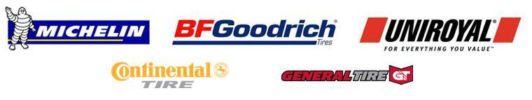 We proudly carry products by Michelin®, BFGoodrich®, Uniroyal®, Continental, and General Tire.