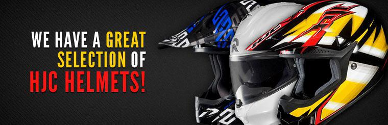 We have a great selection of HJC helmets! Contact us for details.