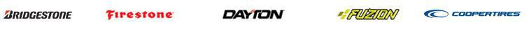 Brands we carry include Bridgestone, Firestone, Dayton, Fuzion, and Cooper.