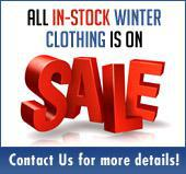 All in-stock winter clothing is on sale! Contact us for more details!