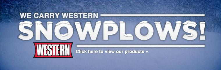 We carry Western Snowplows! Click here for more information.