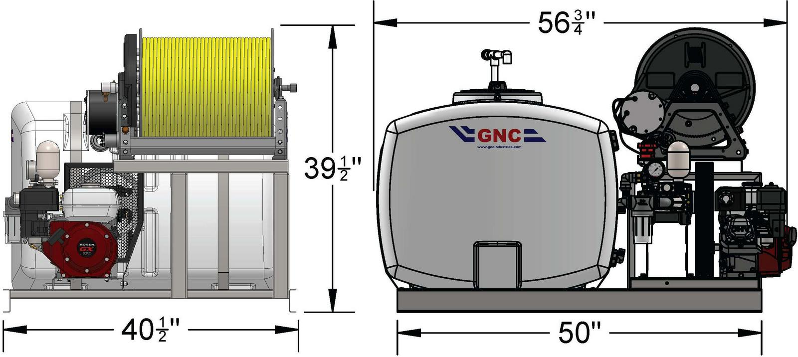 GNC Industries 2019 100 Gallon Commercial Skid Sprayer for