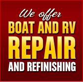 We offer Boat and RV repair and refinishing.