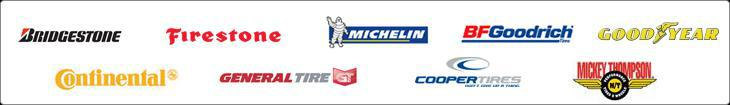 We proudly offer products from Bridgestone, Firestone, Michelin, BFGoodrich, Goodyear, Continental, General, Cooper, and Mickey Thompson.