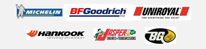 We are proud to carry Michelin®, BFGoodrich®, Uniroyal®, Hankook, Jasper and BG!